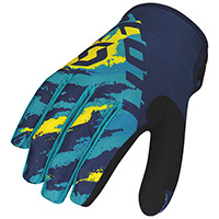Guanti Scott 350 Fury Blu Giallo