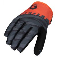 Guanti Scott 350 Dirt Junior Arancio Nero Bimbo