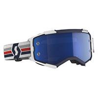 Scott Fury Goggle Blue White Blue Chrome
