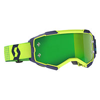 Scott Fury Goggle Blue Yellow Lens Chrome Green