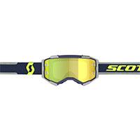 Scott Fury Goggle Blue Grey Lens Chrome Yellow
