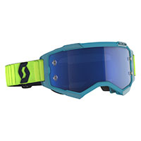 Scott Fury Goggle Teal Blue Yellow Blue Chrome