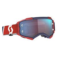 Scott Fury Goggle Red Blue Lens Blue Chrome