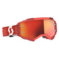 Scott Fury Goggle Bright Red Lens Orange