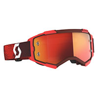 Maschera Scott Fury Rosso Lente Arancio