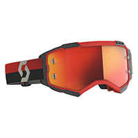 Scott Fury Goggle Red Black Orange Chrome