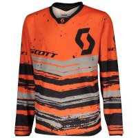 Scott 350 Noise Kids Jersey Orange Black Kid