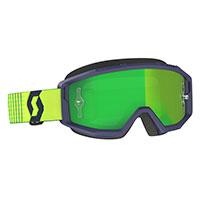 Scott Primal Goggle Blue Yellow Lens Chrome Green