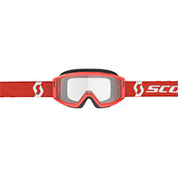 Scott Primal Goggle Red Lens Clear