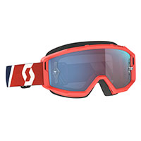 Scott Primal Goggle Red Blue Lens Chrome Blue