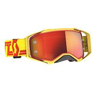 Scott Prospect Goggle Yellow Red Lens Chrome Orange