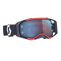 Scott Prospect Goggle Blue Red Lens Chrome Blue