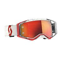 Scott Prospect Goggle Red White Lens Chrome Orange