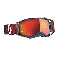 Scott Prospect Goggle Red Blue Lens Chrome Orange