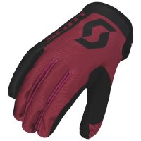 Guanti Scott 350 Race Bordeaux Nero