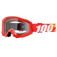 Maschera Offroad 100% Strata Furnace Rosso