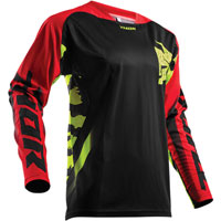 Thor Fuse Rampant Black/red/lime Jersey 2018