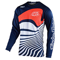 Maglia Troy Lee Designs Gp Drift Navy Arancio