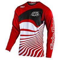 Maillot Troy Lee Designs Gp Drift Rouge Noir