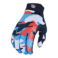 Troy Lee Designs Air Formula Camo Gloves Orange Blue
