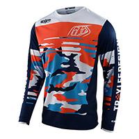 Maglia Troy Lee Designs Gp Formula Camo Arancio Blu