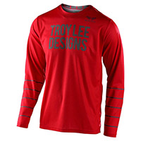 Troy Lee Designs Gp Pinstripe Jersey Red Grey
