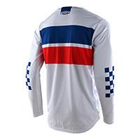 Maglia Troy Lee Designs Gp Racing Stripe Bianco
