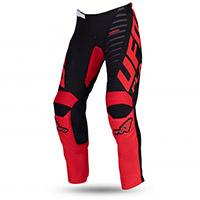 Pantaloni Ufo Kimura Nero Rosso