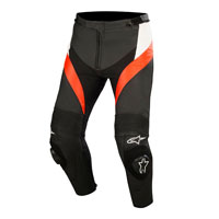 Alpinestars Missile Leather Pants White Red