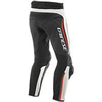 Pantaloni Pelle Dainese Alpha Bianco Rosso Fluo