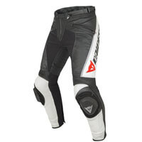 Dainese Delta Pro C2 Perforated Leather Pants Black White