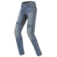 Spidi Furious Pro Lady Denim Jeans Light Blue