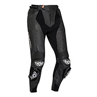 Pantalones de cuero Ixon Vendetta Evo negro blanco