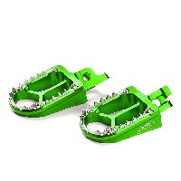 Footpegs Kite KAWASAKI KX/KXF Green