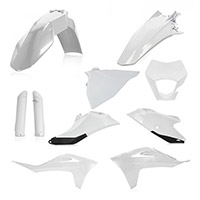 Kit Plastiche Acerbis Gas Gas Ec/ecf21 Bianco Nero