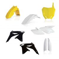 Acerbis Full Plastic White Yellow Black Kit 0013982 For Susuki Rm-z 450 2008-2017