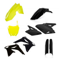 Acerbis Full Plastic Yellow And Black Kit 0013982 For Susuki Rm-z 450 2008-2017