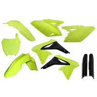 Acerbis Plastic Kit Fluo Yellow 0013984 For Susuki Rm-z 250 2010-2017