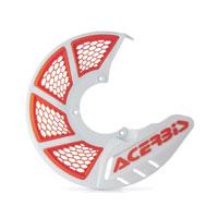 Acerbis Protezione Disco Freno Anteriore X-brake 2.0 Bianco-arancio