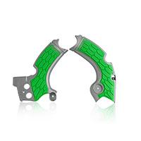 Acerbis X-grip Frame Protectors Grey Green Kawasaki Kxf 250 2017