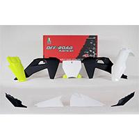 Kit Plastiche Racetech Replica 6pz Tc/fc Bianco Giallo