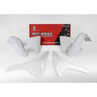 Racetech Plastic Kits Replica Husqvarna 2018 4pcs White