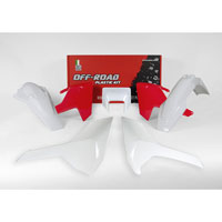 Racetech Plastic Kits Replica Husqvarna 2018 5pcs White Red