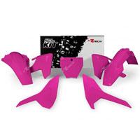 Racetech Kit Plastiche Husqvarna Replica Rosa Fluo