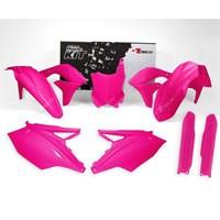 Racetech Kit Plastiche Kawasaki Replica Rosa Neon