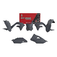 Kit 5pcs Plastics Racetech Replica Kawasaki Grey