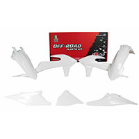 Racetech Plastics Kit Replica Ktm 2020 White