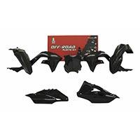 Racetech Replica Plastics Kit Kawasaki Kxf Black