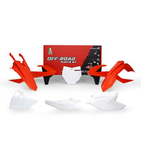 Racetech Plastic Kits Replica Ktm 2018 6pcs White Orange