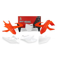 Racetech Plastic Kits Replica Ktm 2018 White Orange